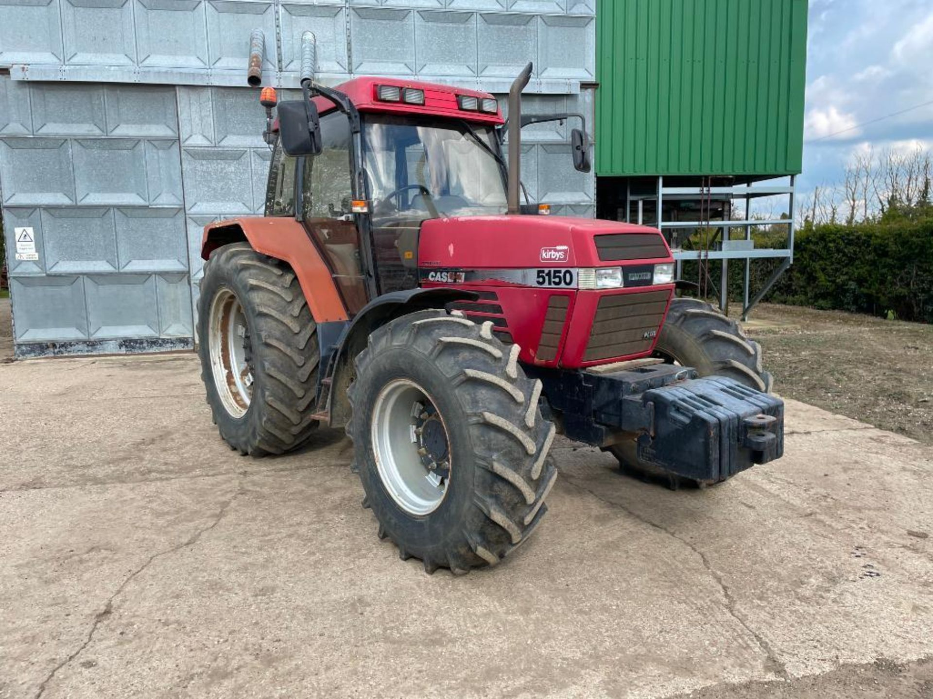 1997 Case IH 5150 Maxxum Plus Powershift 4wd tractor with 2 spools, PUH and front wafer weights on 1 - Image 2 of 13