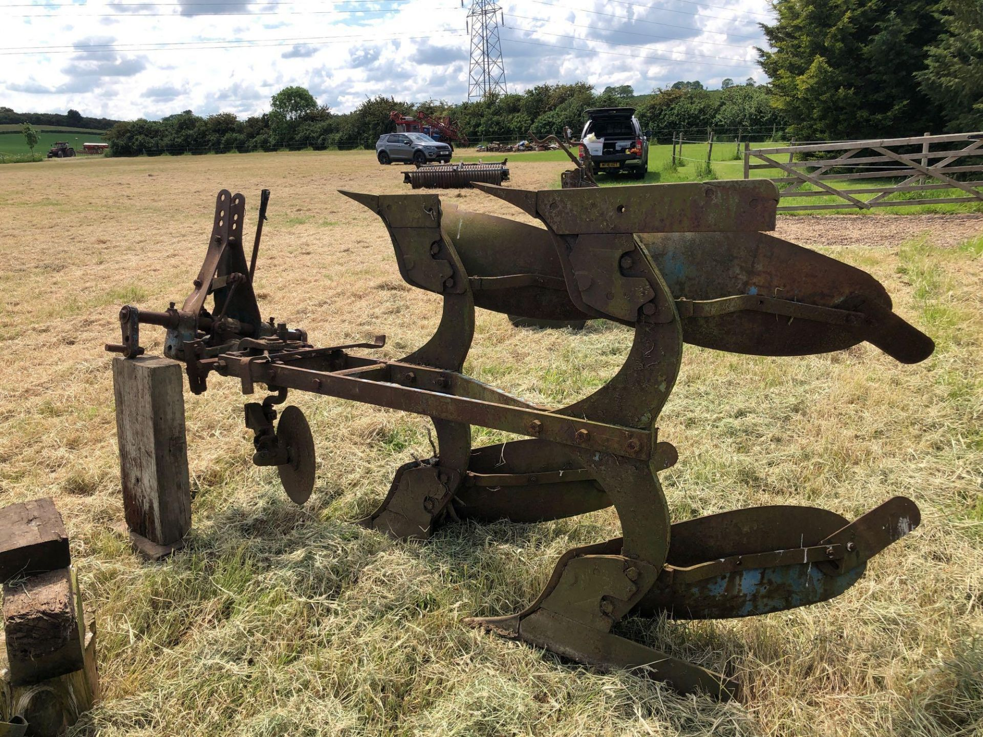 Ransomes 2f reversible plough - Image 3 of 4
