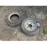 Single Michelin 155/70R12 wheel and tyre with additional miscellaneous tyre