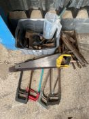 Quantity saws and tools