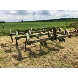 John Deere C tine cultivator, 3.5m linkage mounted