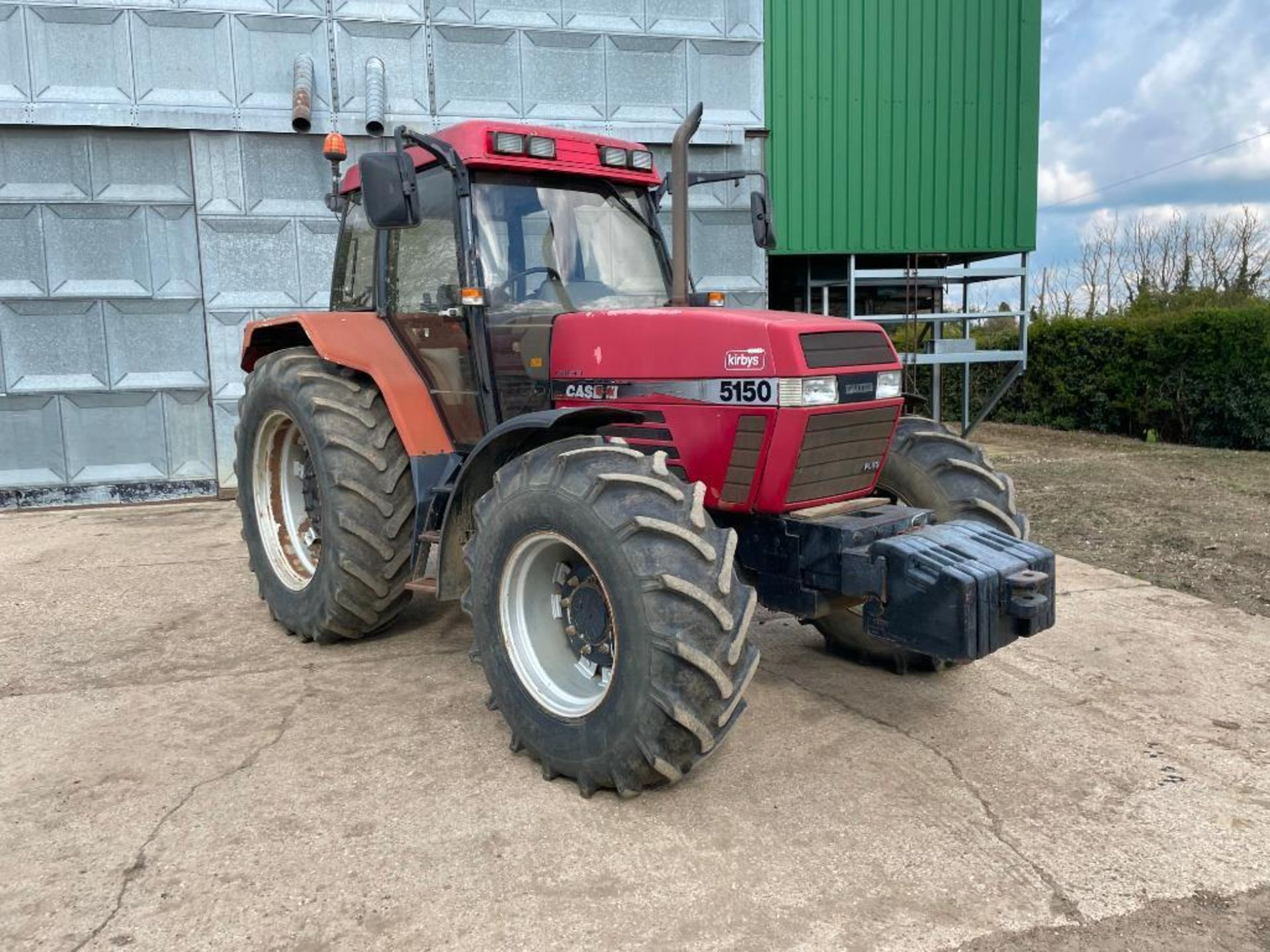 1997 Case IH 5150 Maxxum Plus Powershift 4wd tractor with 2 spools, PUH and front wafer weights on 1 - Image 7 of 13