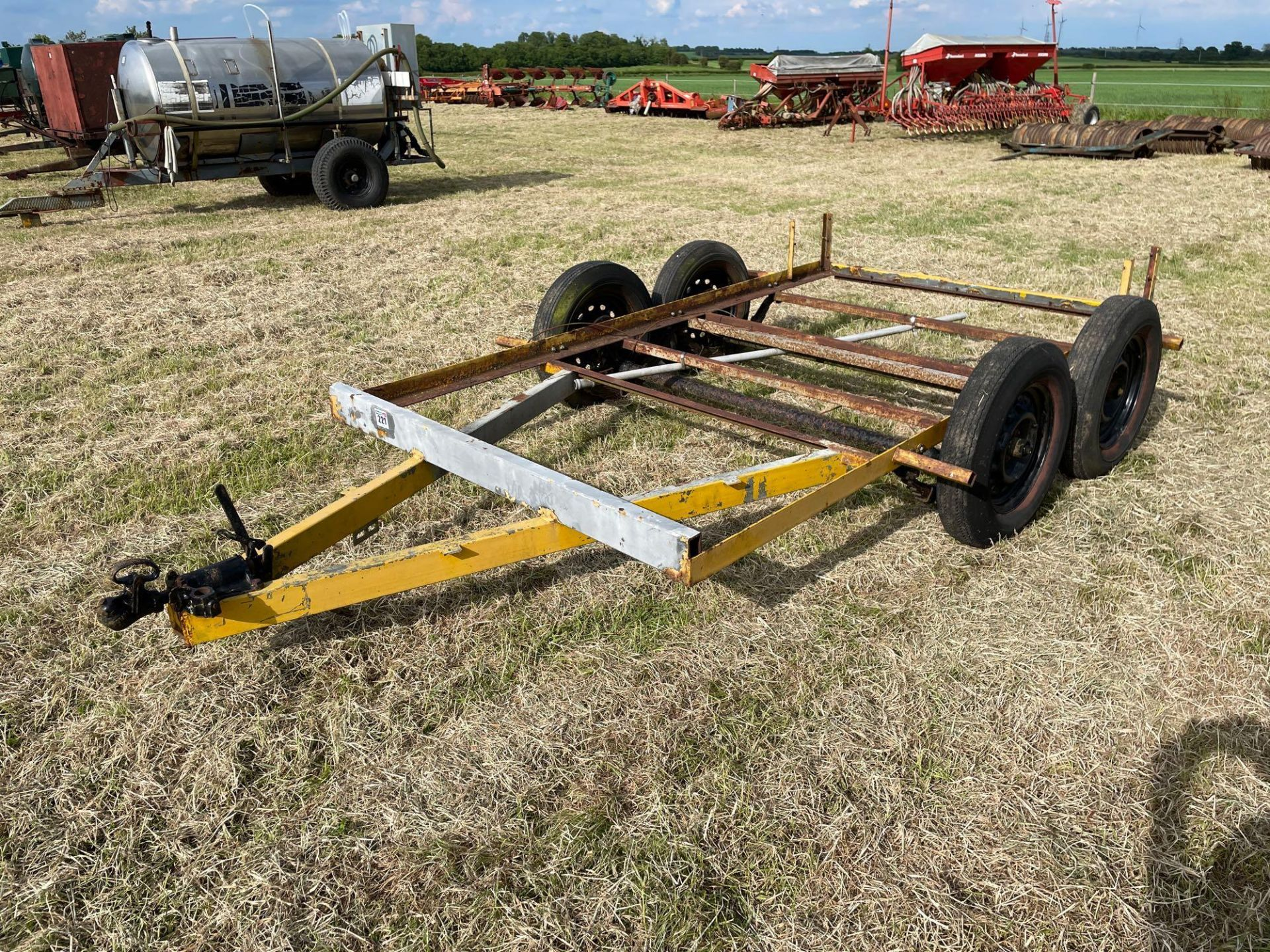 Single axle car trailer frame - Image 2 of 4