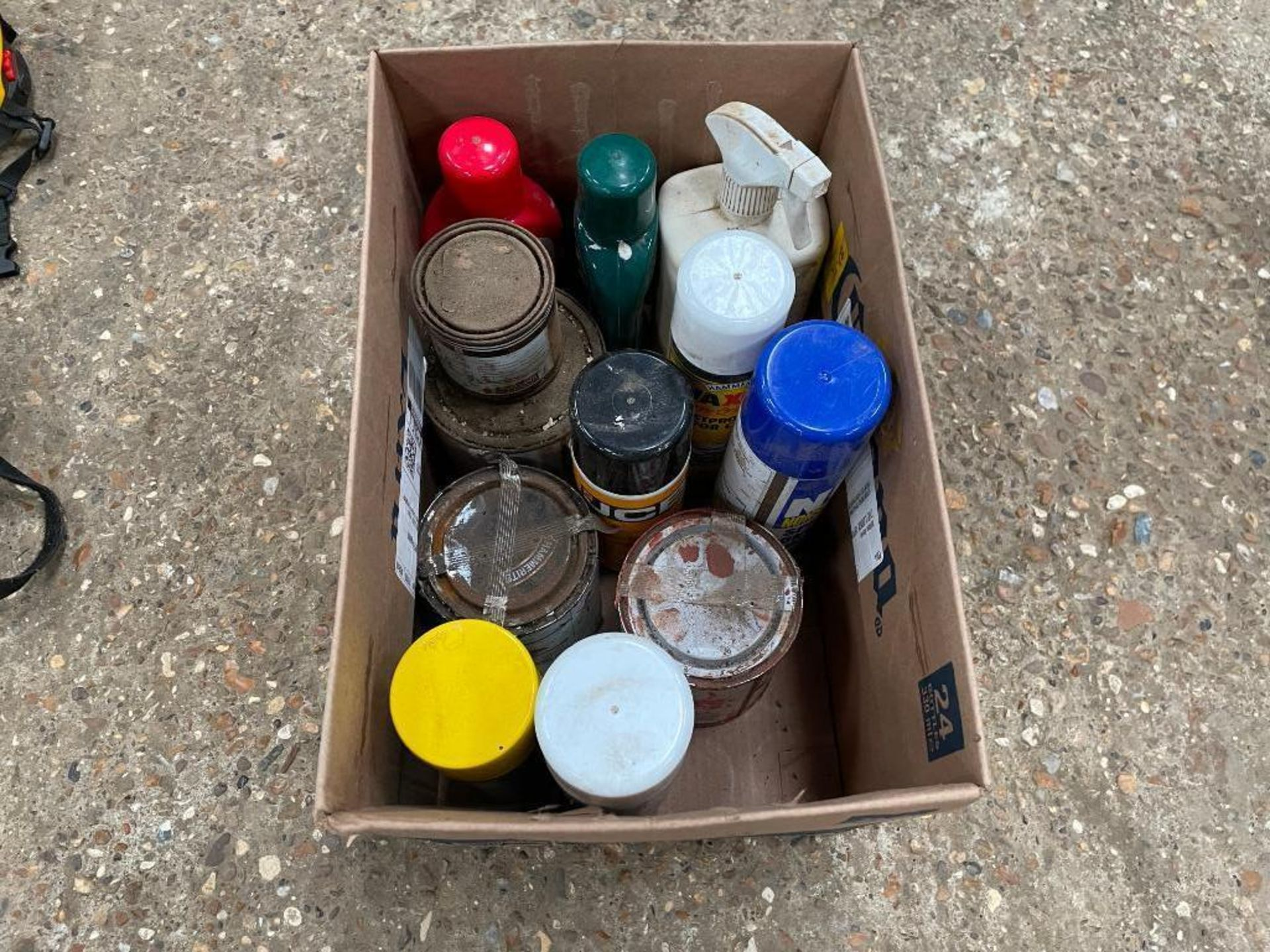 Quantity paints and cleaners