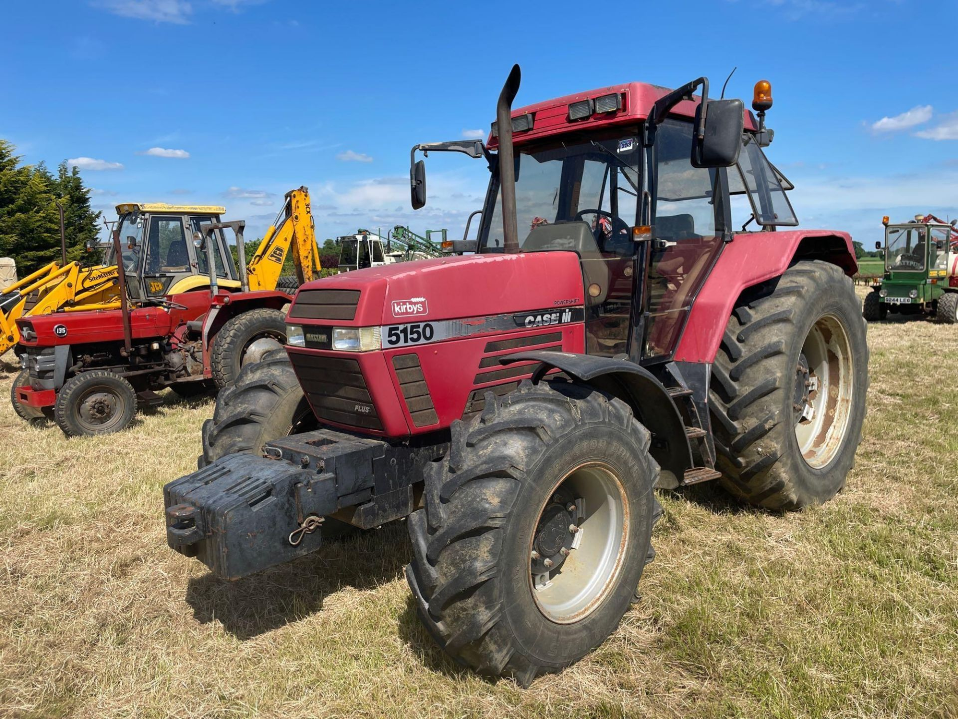 1997 Case IH 5150 Maxxum Plus Powershift 4wd tractor with 2 spools, PUH and front wafer weights on 1