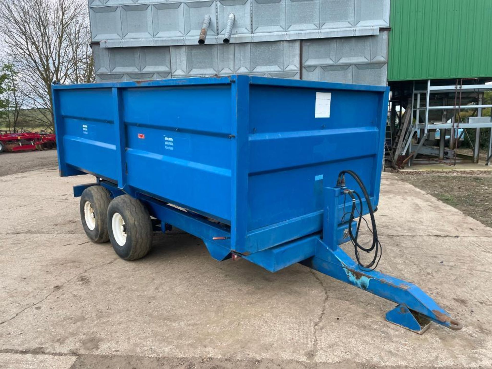 1986 AS Marston 8t twin axle grain trailer, manual tailgate and grain chute on 11.5/80-15.3 wheels a - Image 13 of 15