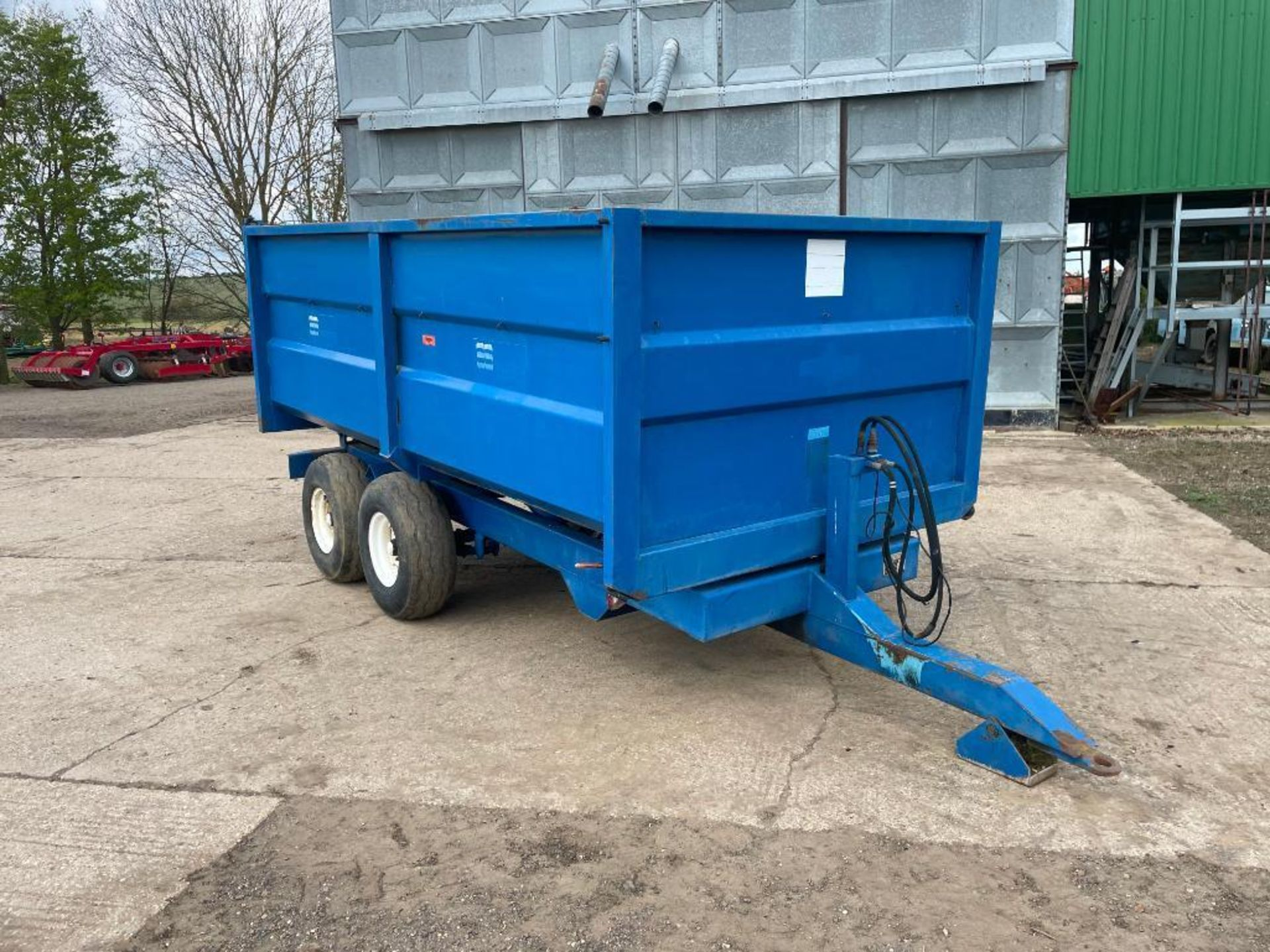 1986 AS Marston 8t twin axle grain trailer, manual tailgate and grain chute on 11.5/80-15.3 wheels a - Image 12 of 15