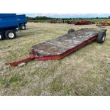 Hayflake Systems HM475, 4.5t single axle low loader trailer on 11.5/80-15.3 wheels and tyres. Serial