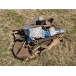 Various spares including lights, plastic sheet, PTO parts and trailer weight
