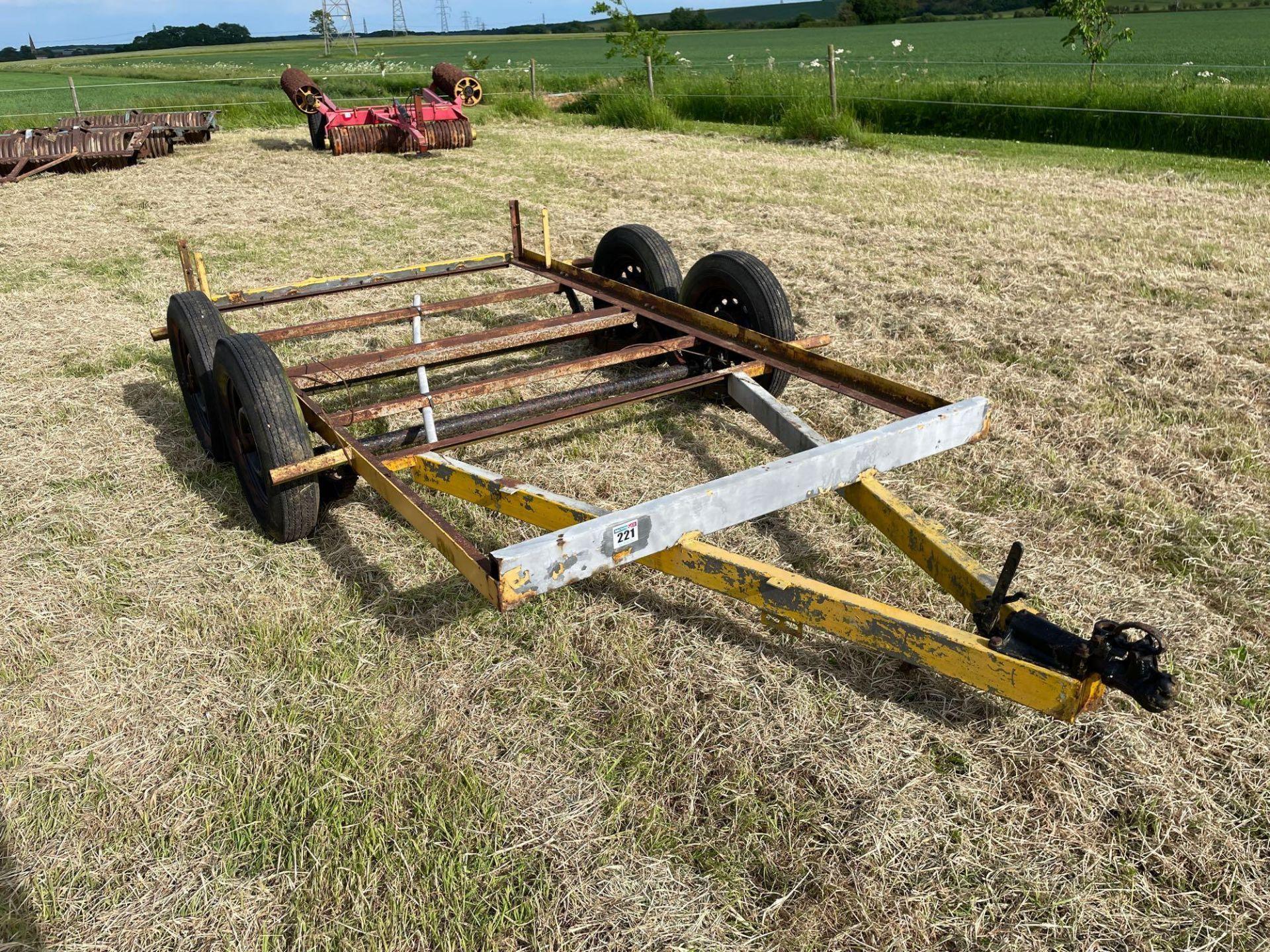 Single axle car trailer frame