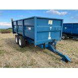 2000 AS Marston 10t twin axle grain trailer, manual tailgate and grain chute on 385/65R22.5 wheels a