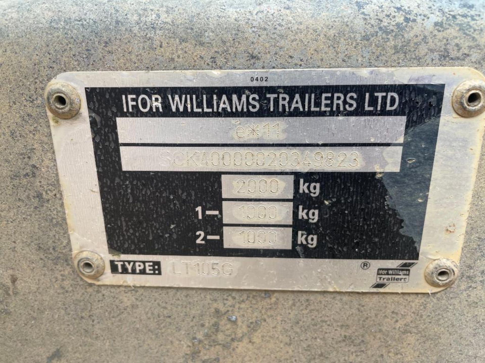 Ifor Williams LT105G 10ft twin axle flat bed trailer with front ladder and aluminium ramps on 145R10 - Image 11 of 12