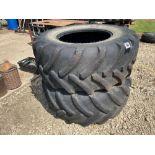 Pair Goodyear 600/70R30 tyres