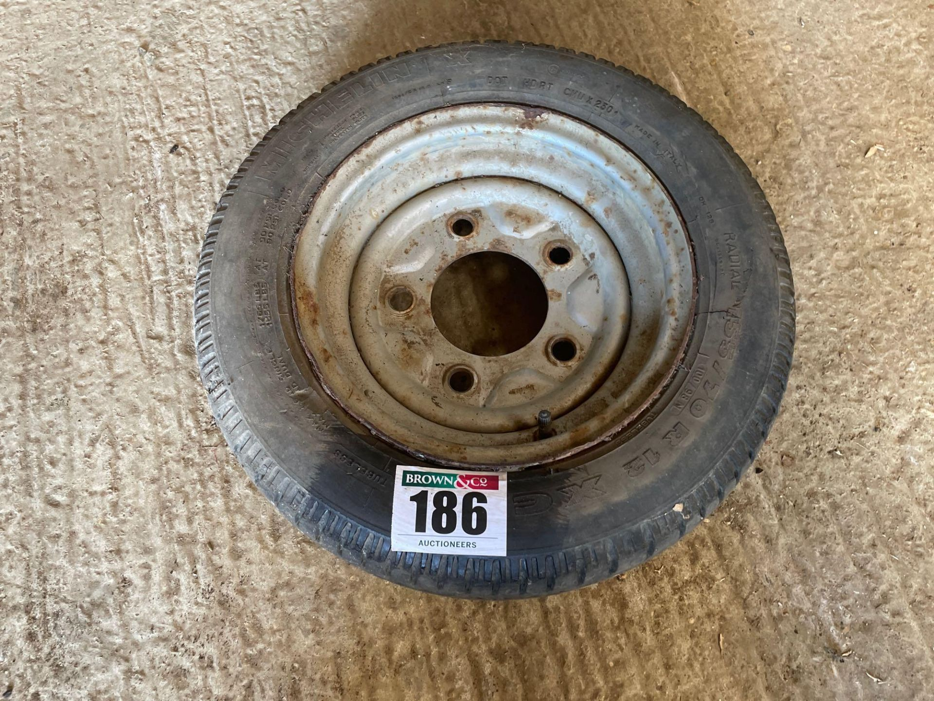 Single Michelin 155/70R12 wheel and tyre with additional miscellaneous tyre - Image 2 of 2