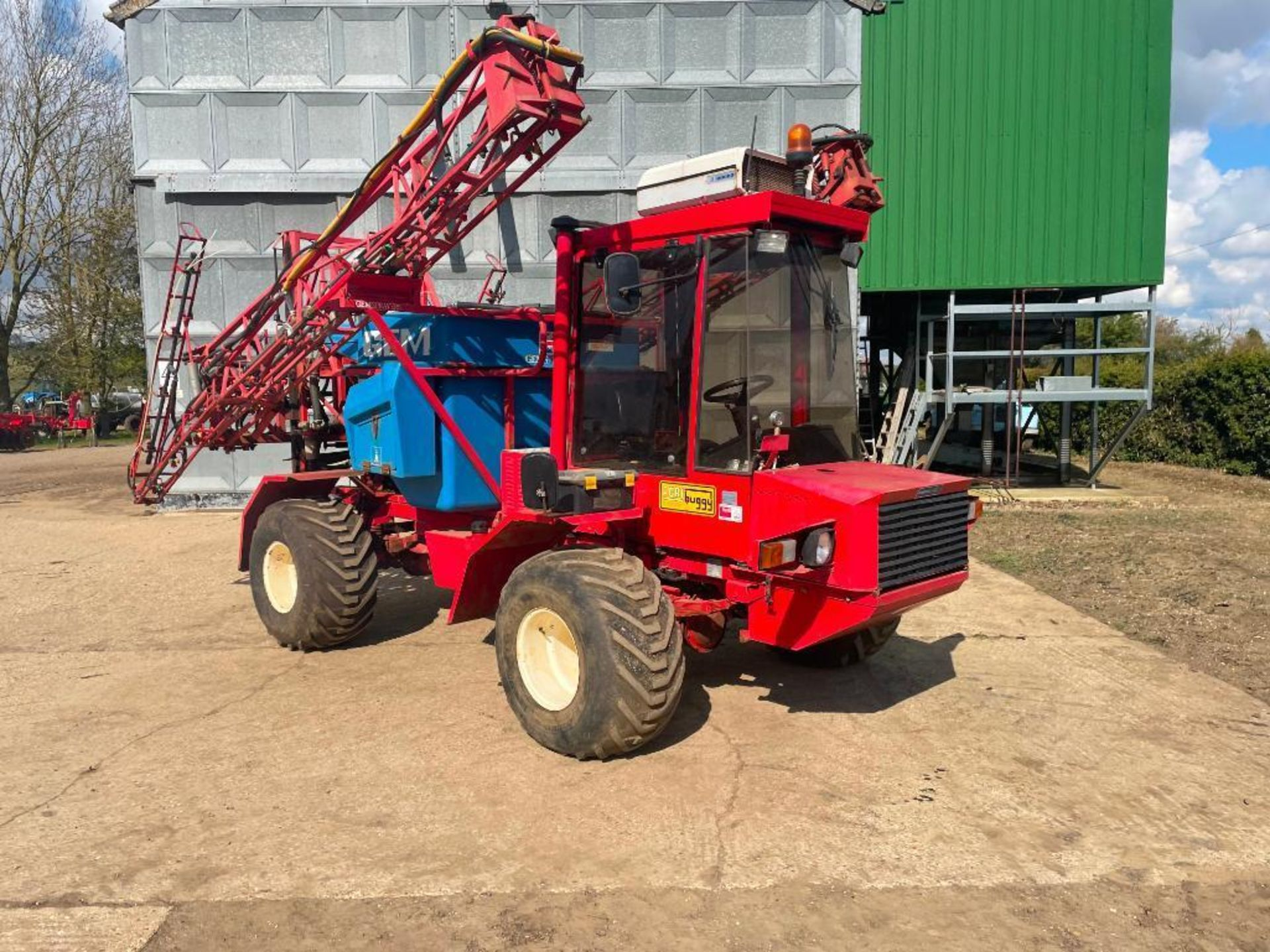 1995 Frazier Agri-Buggy SD with GEM 24m self propelled sprayer, 1500l tank on 38x20.00-16 wheels and - Image 5 of 27