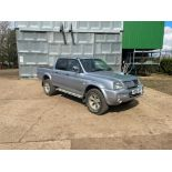 2006 Mitsubishi L200 Trojan pick up, 4wd, manual, leather seats on 265/70R16 wheels and tyres, silve