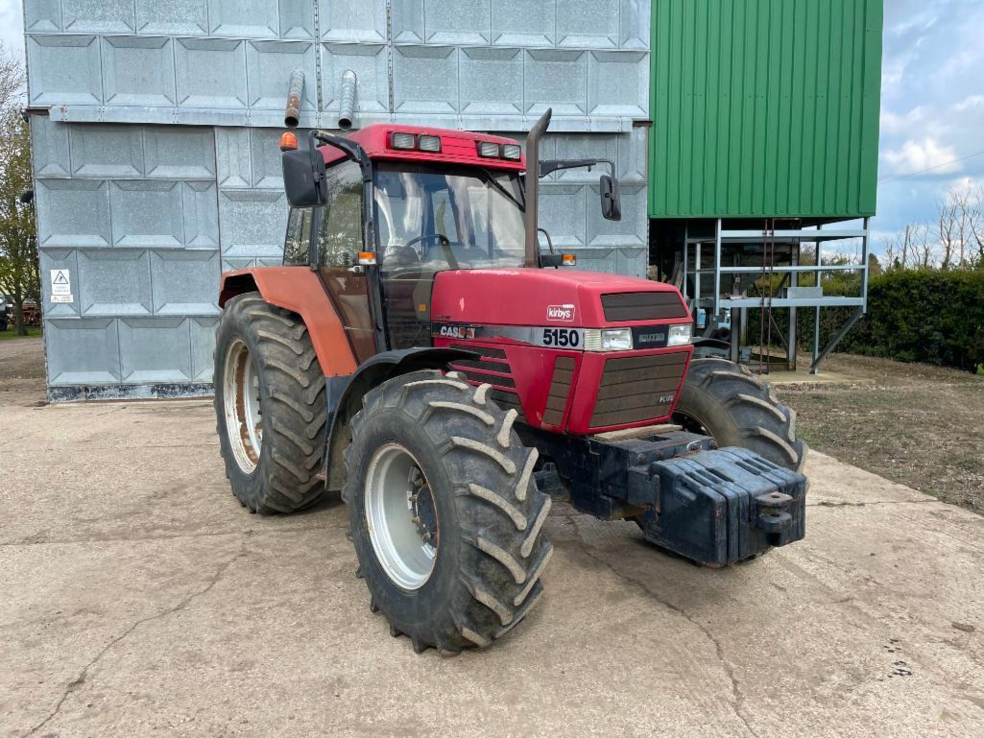 1997 Case IH 5150 Maxxum Plus Powershift 4wd tractor with 2 spools, PUH and front wafer weights on 1 - Image 6 of 13