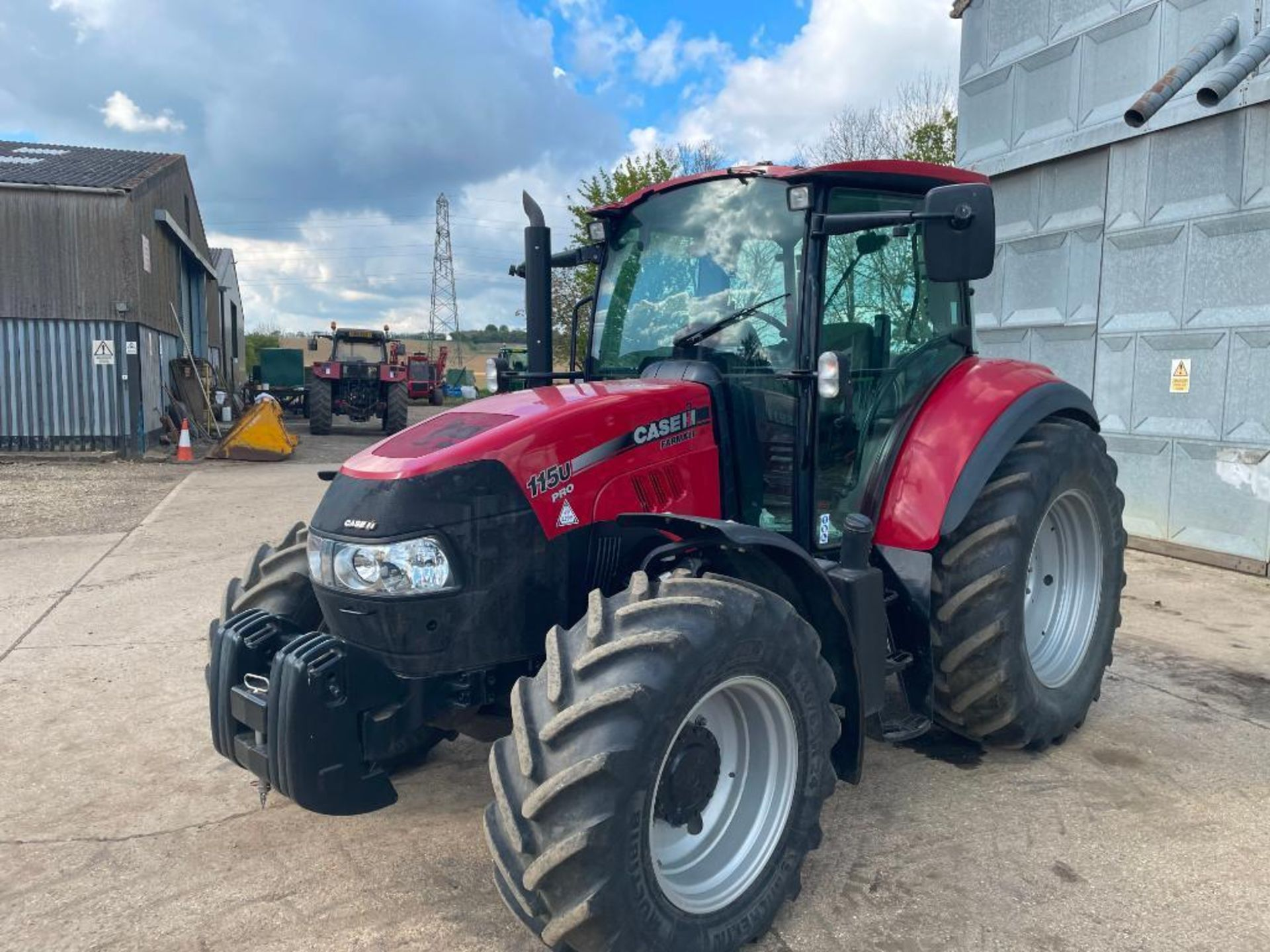 2014 Case IH Farmall 115U PRO 40Kph 4wd tractor with 2 spools, PUH on 440/65R24 front and 540/65R34 - Image 9 of 10