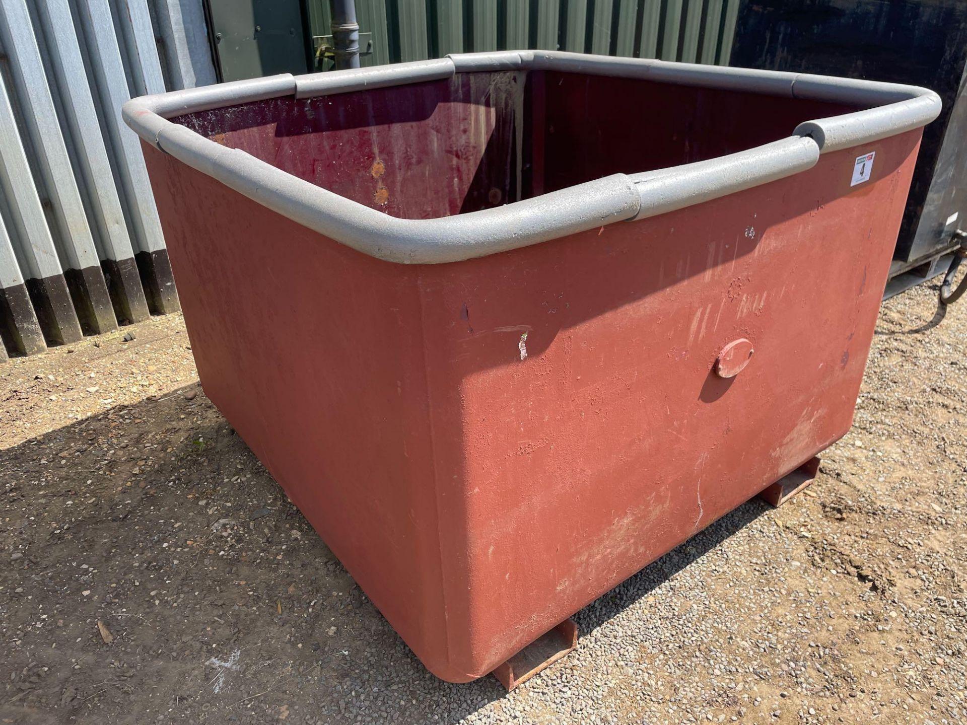 Open top metal tank - Image 2 of 2