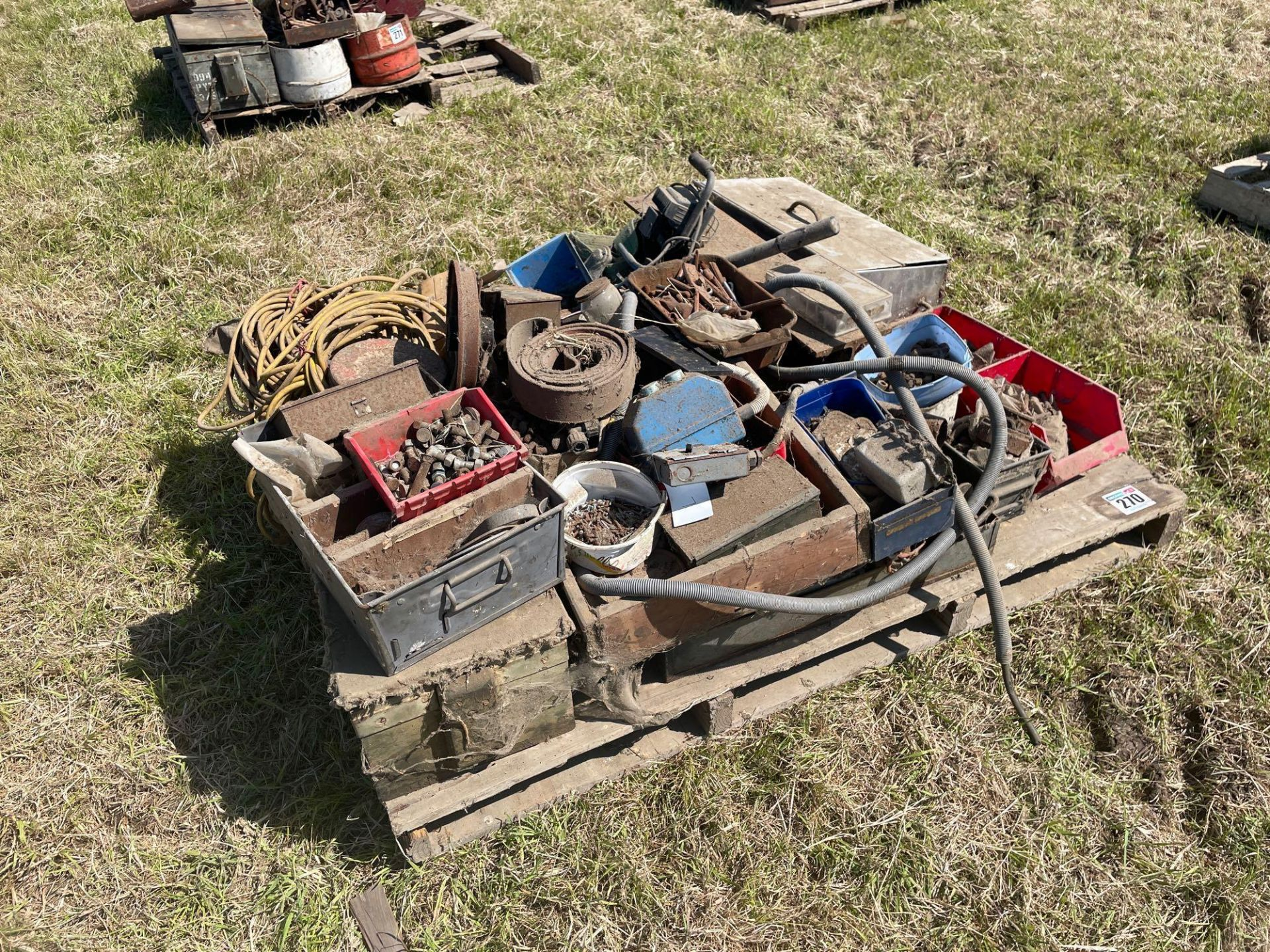 Various spares including bolts, RSJ and pins