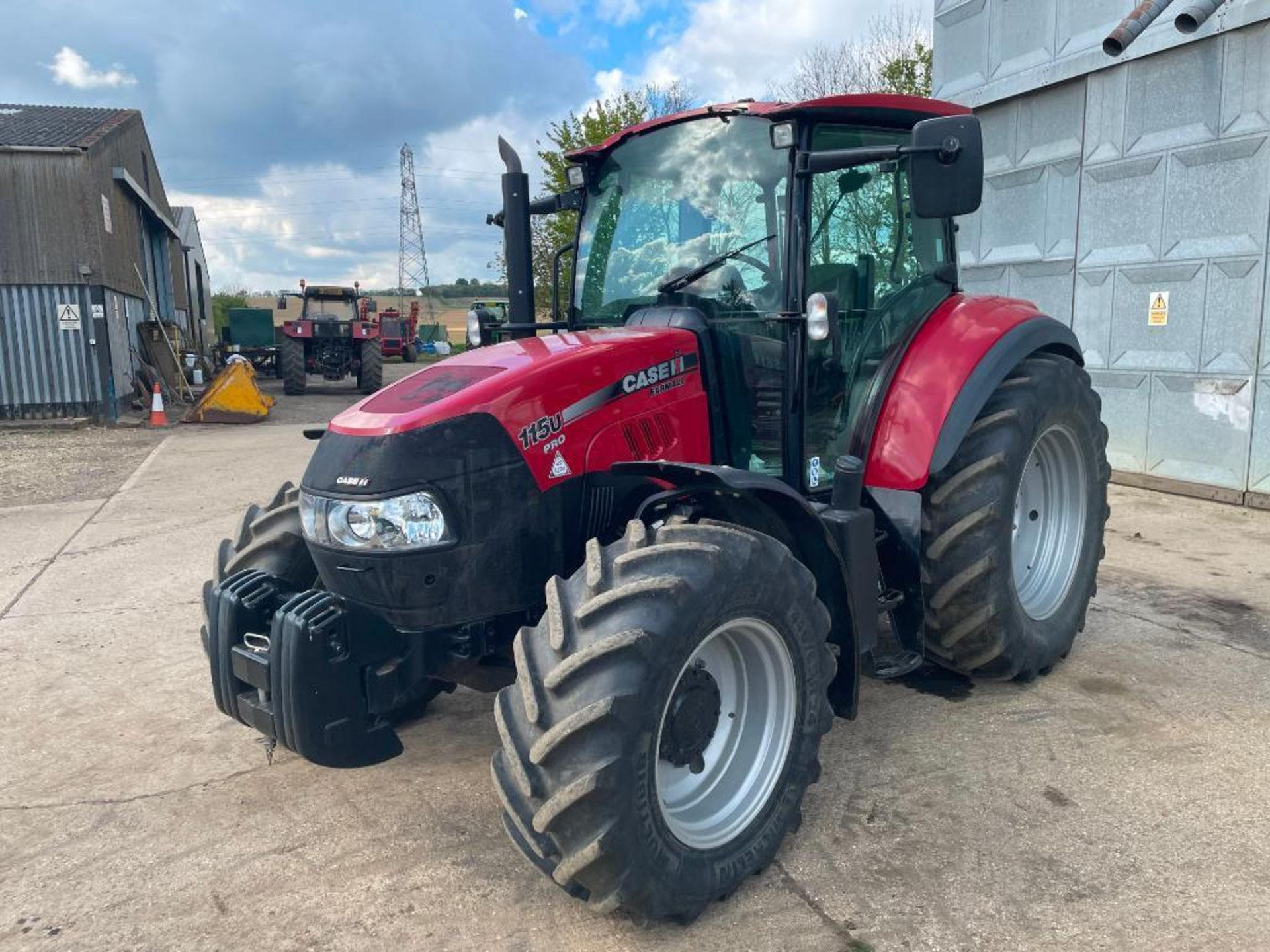 2014 Case IH Farmall 115U PRO 40Kph 4wd tractor with 2 spools, PUH on 440/65R24 front and 540/65R34 - Image 10 of 10