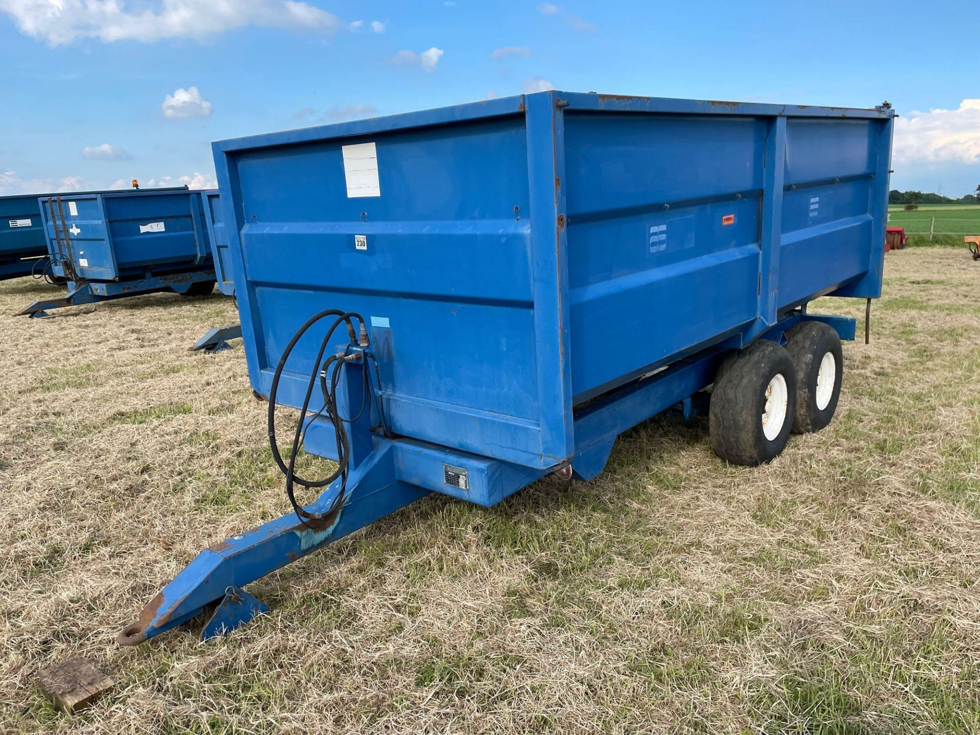 1986 AS Marston 8t twin axle grain trailer, manual tailgate and grain chute on 11.5/80-15.3 wheels a - Image 2 of 15