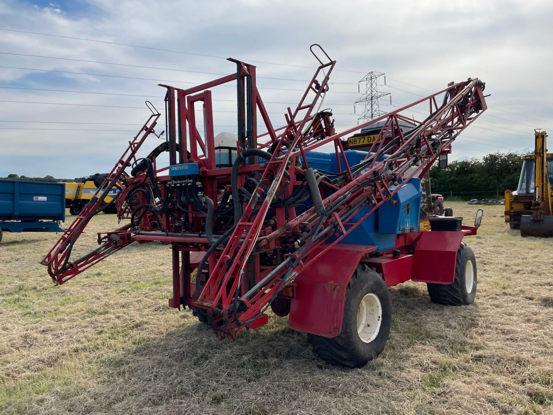1995 Frazier Agri-Buggy SD with GEM 24m self propelled sprayer, 1500l tank on 38x20.00-16 wheels and - Image 26 of 27