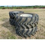 Set 540/65R24 wheels and tyres to suit Househam sprayer