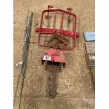 Trailer hitch and shoe with Tractor guard and PTO accessories