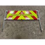 Galvanised Highway Maintenance Sign