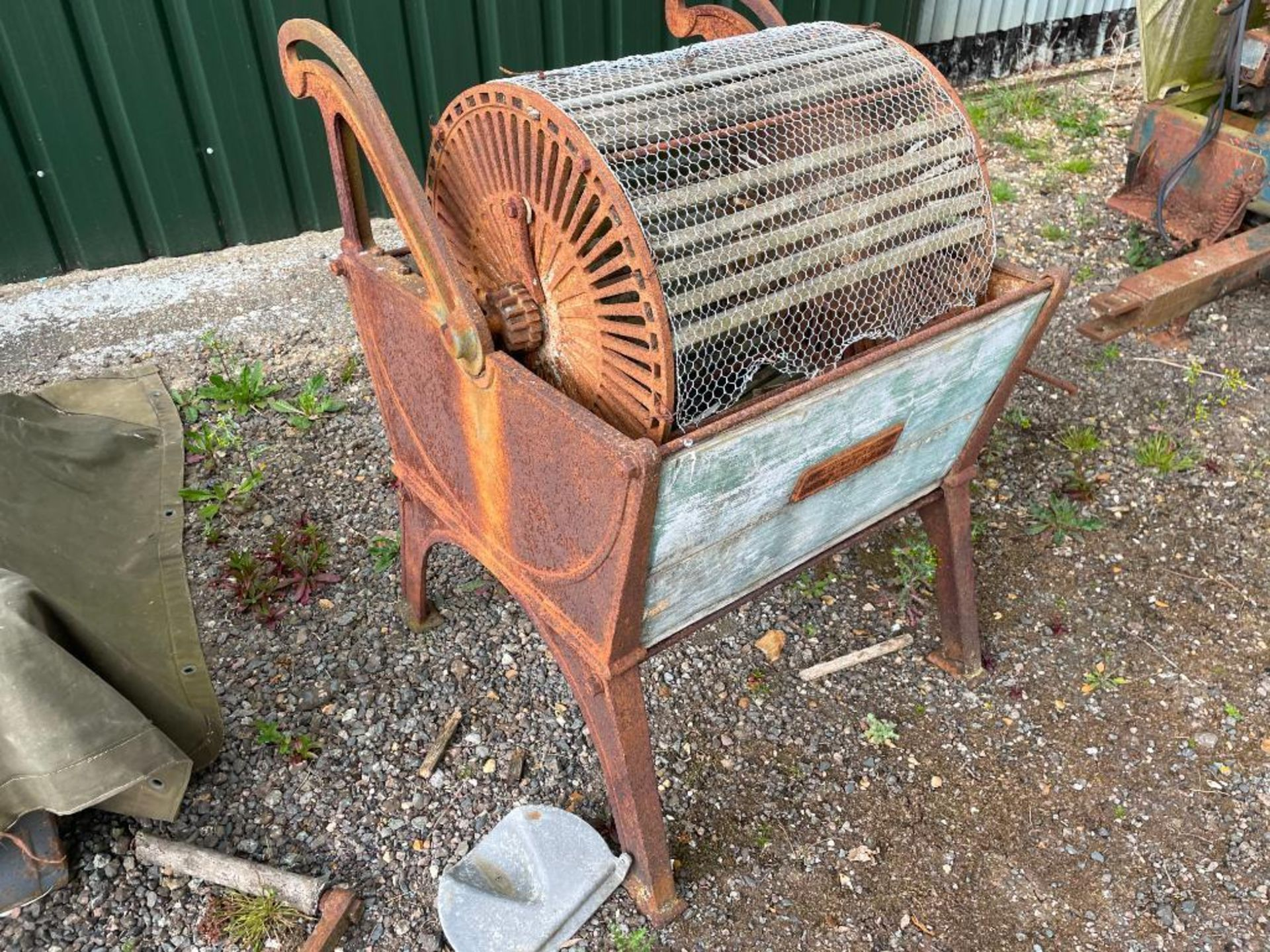 Cat Ward & Son Agri Engineers of Hitchin vintage vegetable washer - Image 2 of 2