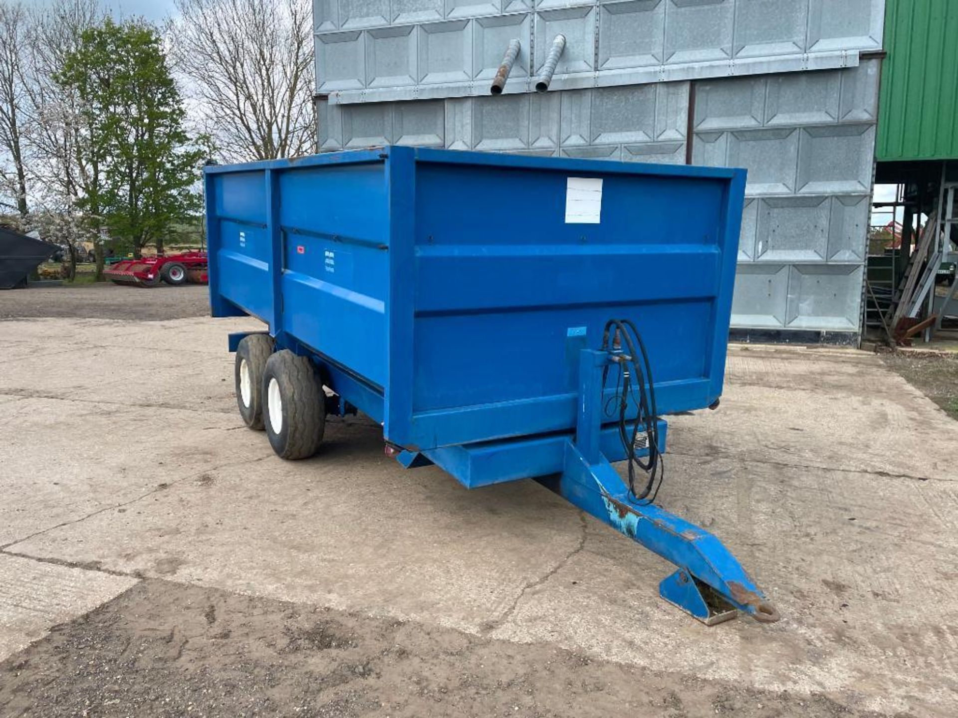 1986 AS Marston 8t twin axle grain trailer, manual tailgate and grain chute on 11.5/80-15.3 wheels a - Image 7 of 15