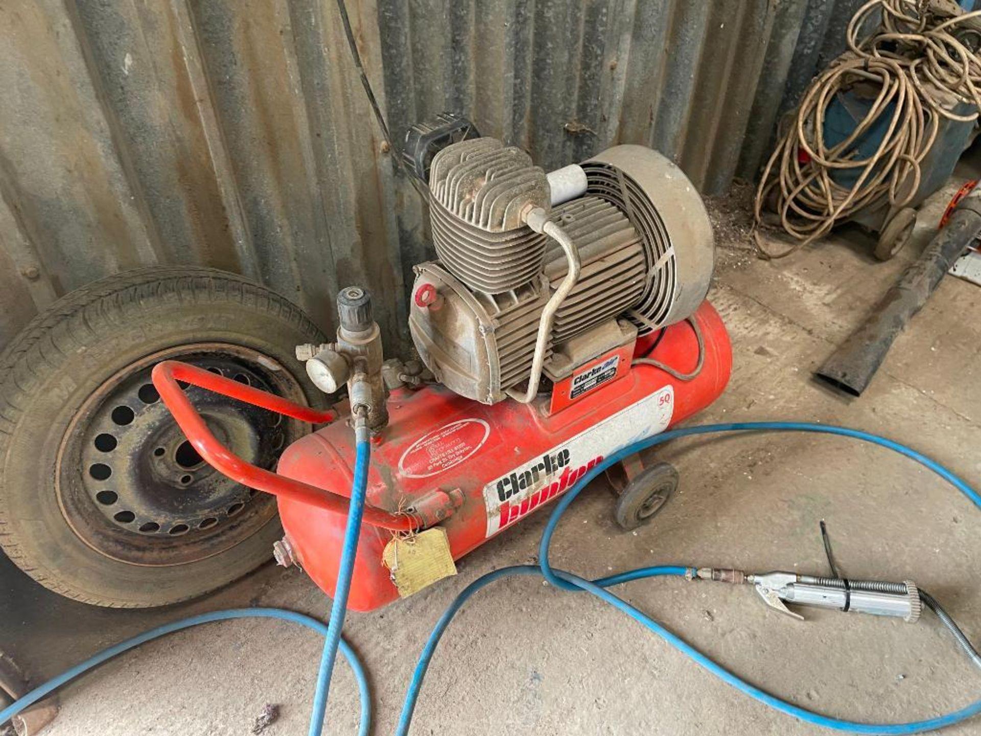 Clarke Hunter Air 50 compressor. Serial No: 50125