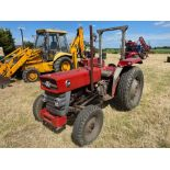 Massey Ferguson 135 2wd tractor with roll bar on 205R16 front and 12.4-28 rear wheels and tyres, die