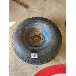 Single 12.5/80-15.3 wheel and tyre(6 stud)