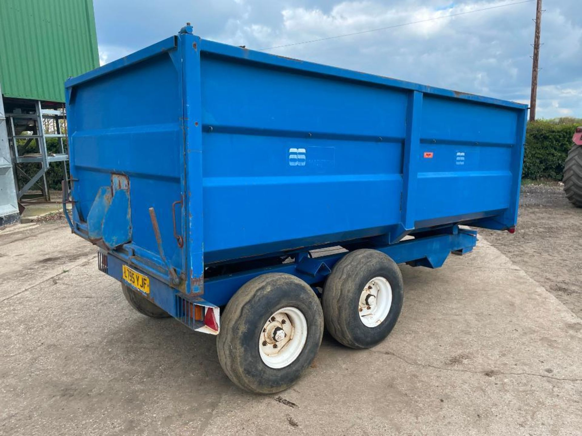 1986 AS Marston 8t twin axle grain trailer, manual tailgate and grain chute on 11.5/80-15.3 wheels a - Image 9 of 15