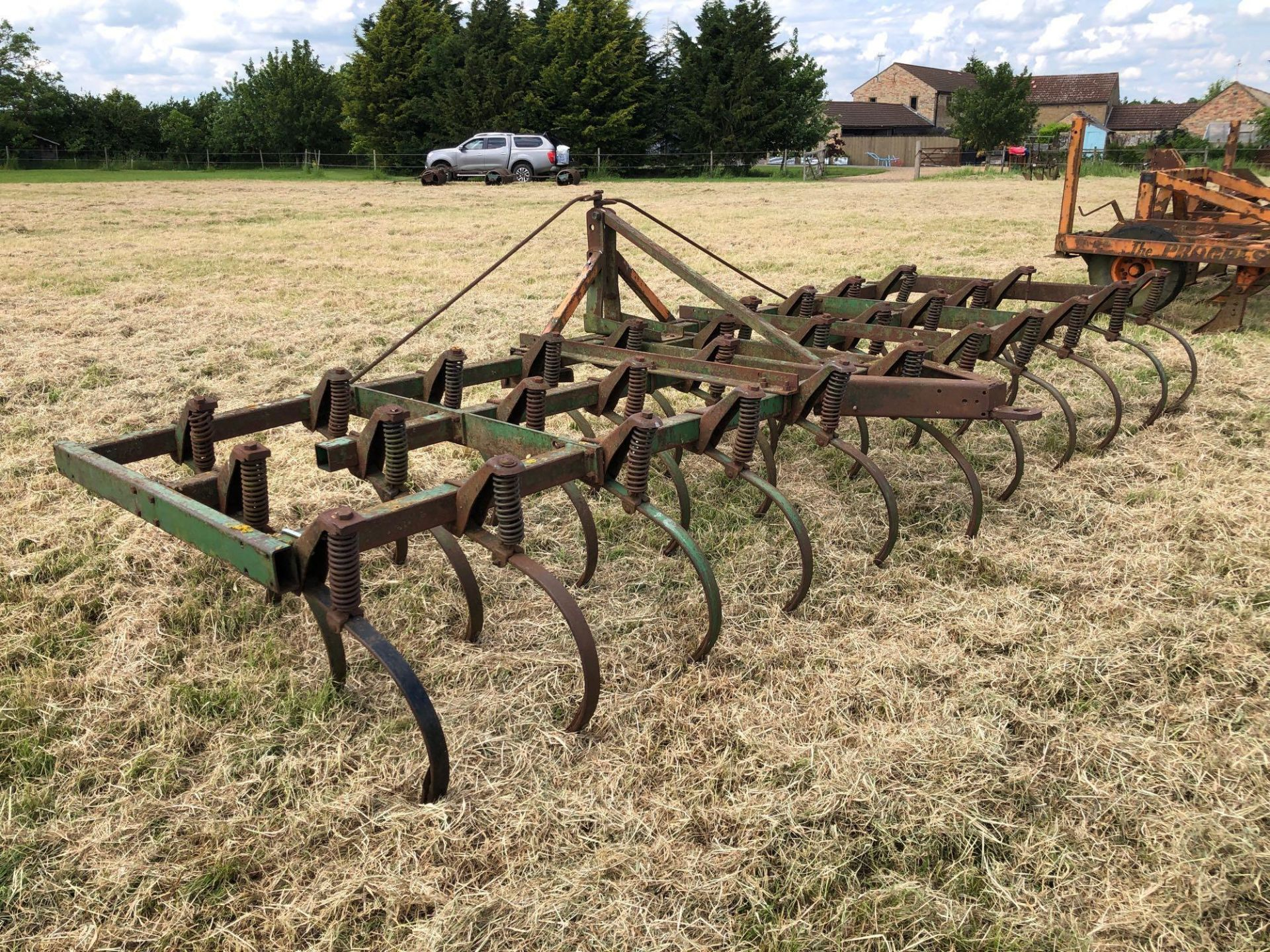 C tine cultivator, 4.5m linkage mounted - Image 4 of 4