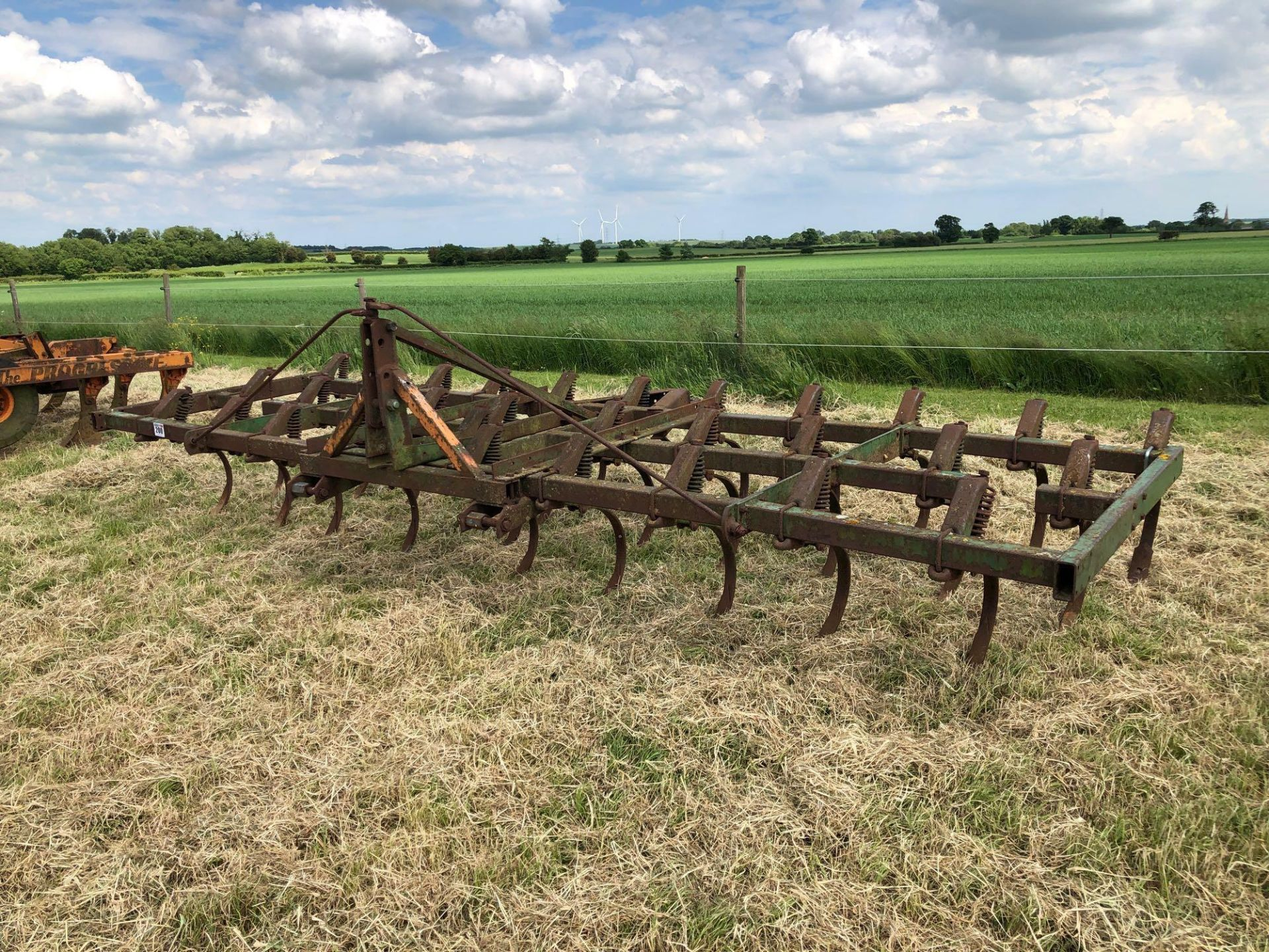 C tine cultivator, 4.5m linkage mounted - Image 2 of 4