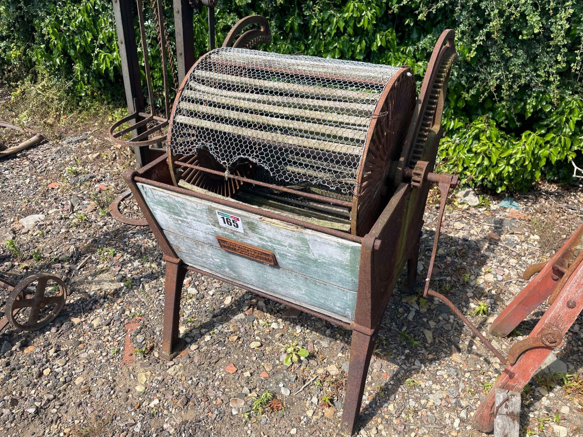 Cat Ward & Son Agri Engineers of Hitchin vintage vegetable washer