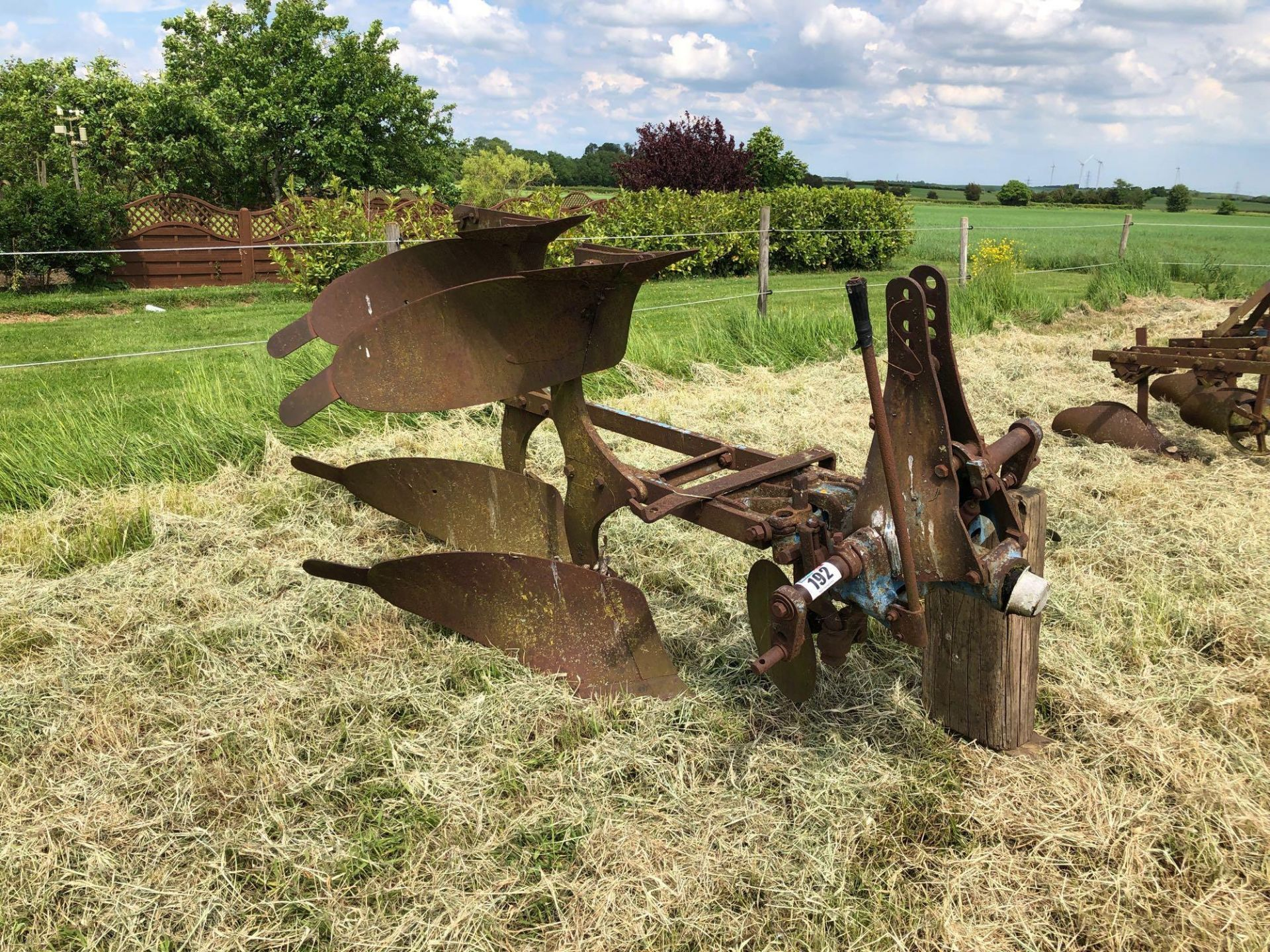 Ransomes 2f reversible plough