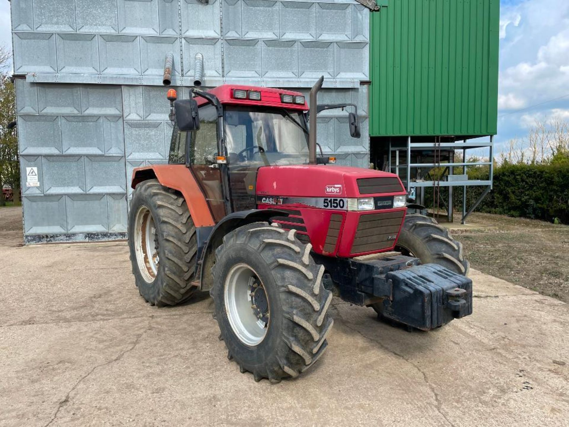 1997 Case IH 5150 Maxxum Plus Powershift 4wd tractor with 2 spools, PUH and front wafer weights on 1 - Image 11 of 13