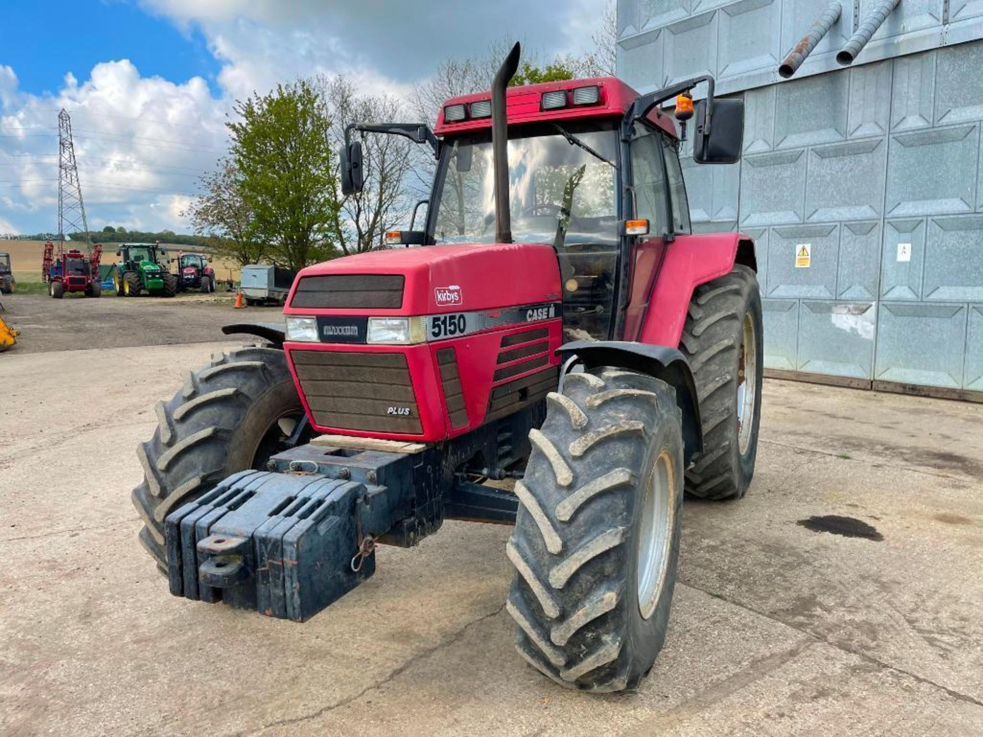 1997 Case IH 5150 Maxxum Plus Powershift 4wd tractor with 2 spools, PUH and front wafer weights on 1 - Image 8 of 13