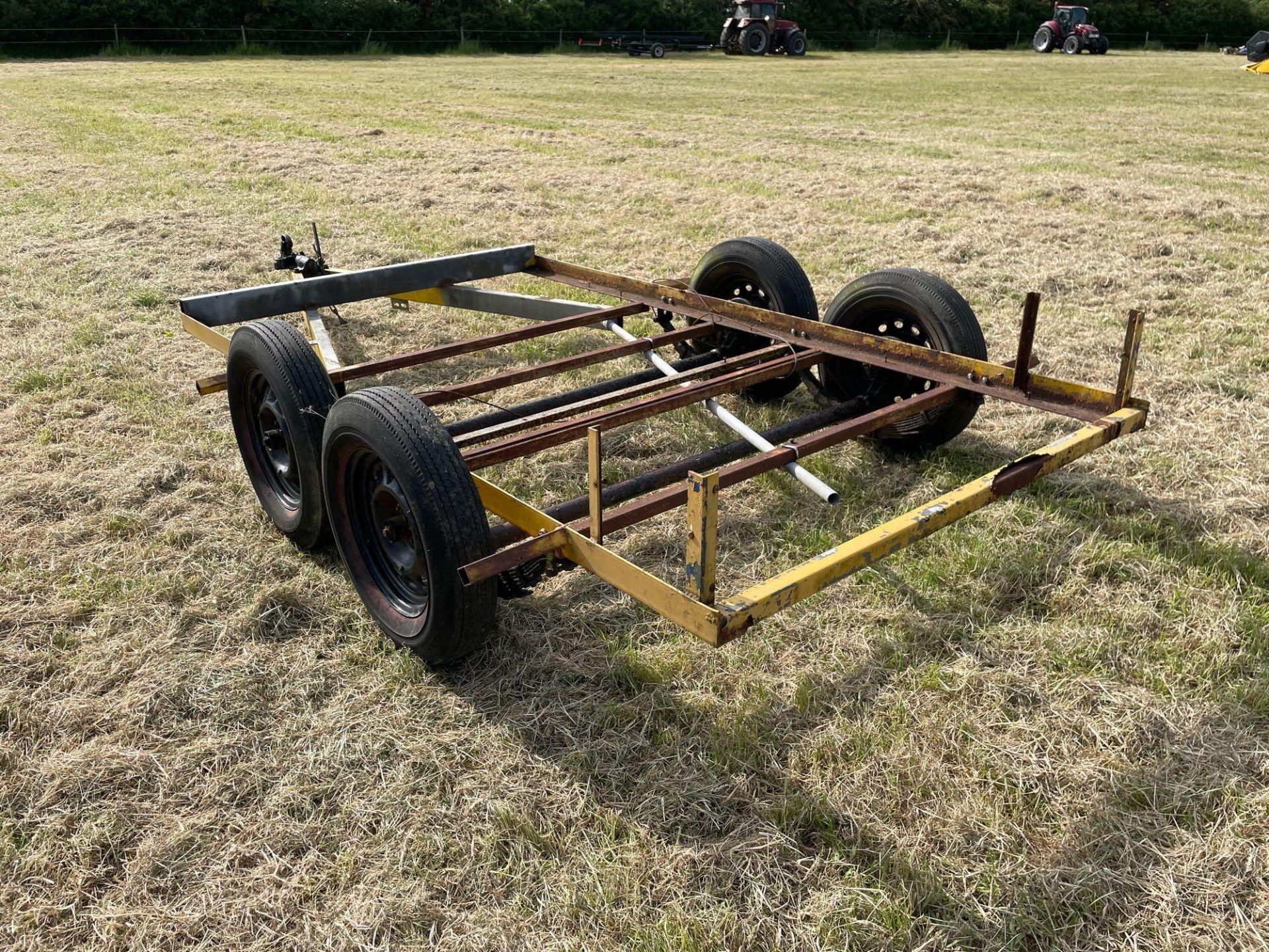 Single axle car trailer frame - Image 3 of 4