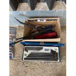 Draper 10 piece HEX key set with levers