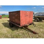 10ft single axle hydraulic tipping trailer, wooden floor with steel tank and grain chute