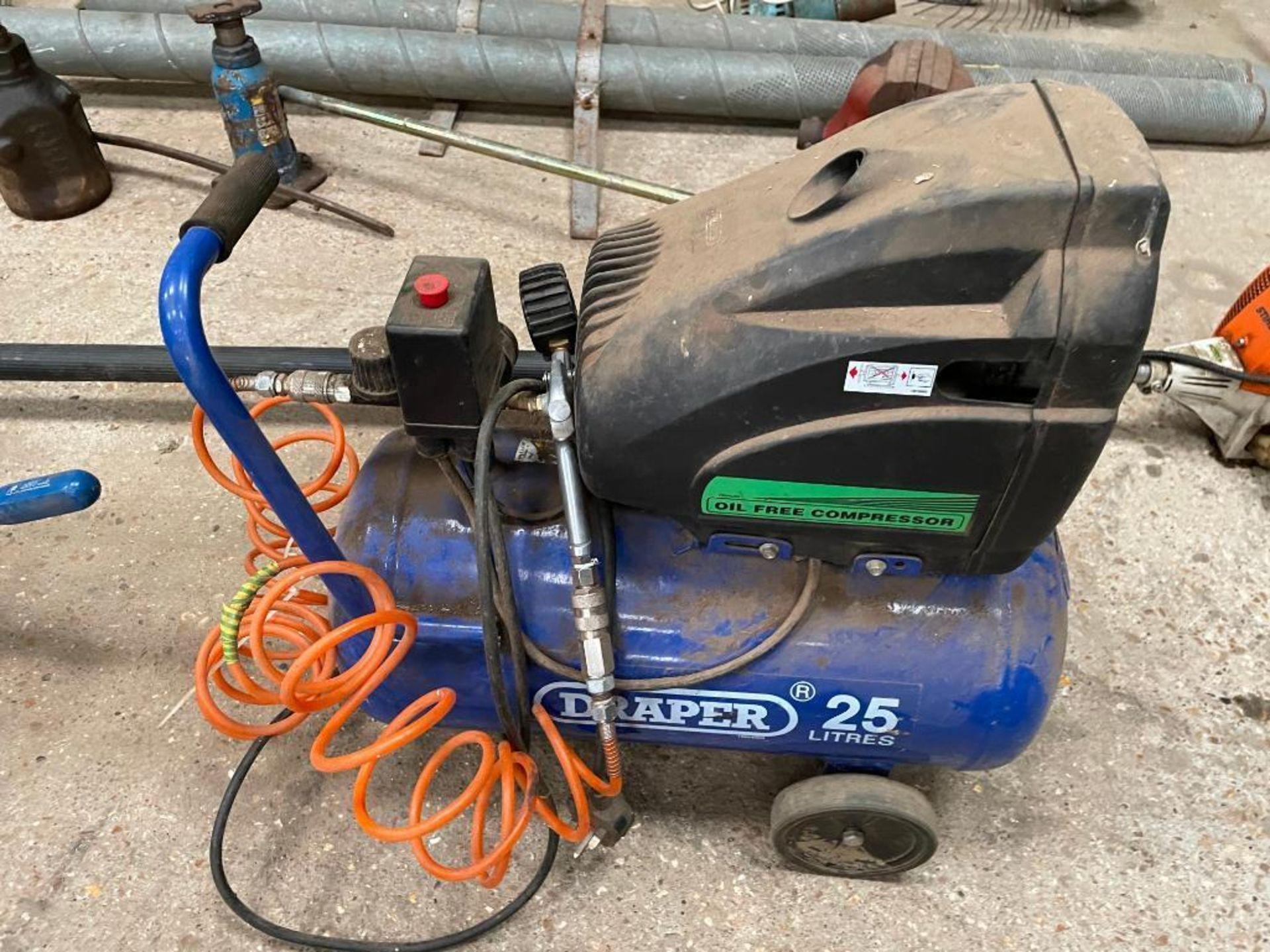 Draper 25L air compressor - Image 2 of 2