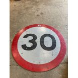 Speed warning sign