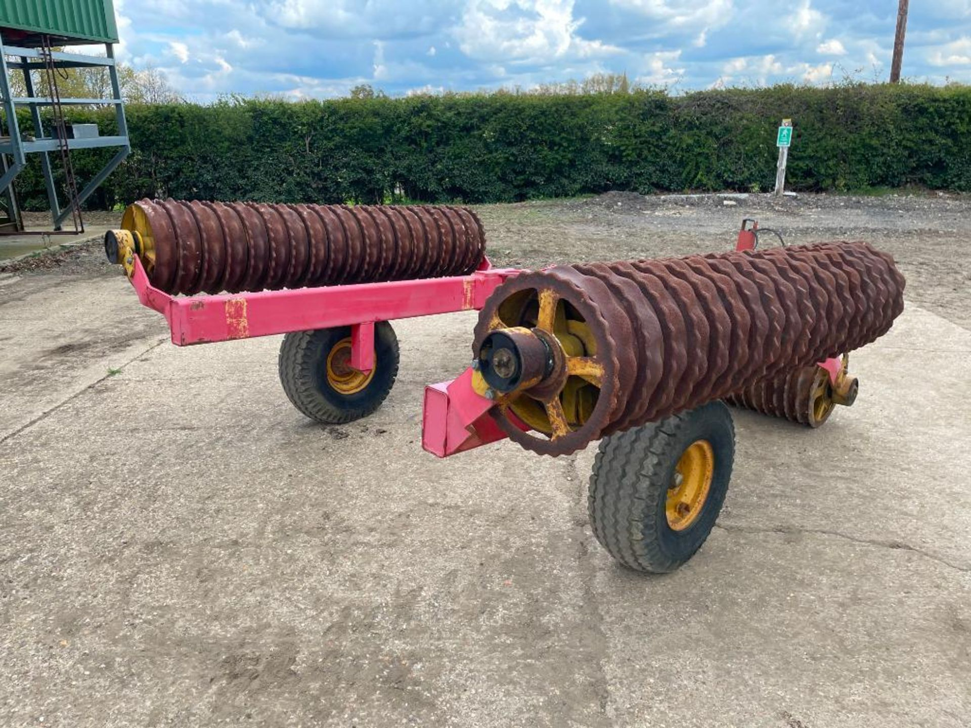 Vaderstad Rollex 620 Cambridge rolls, 6.2m hydraulic folding on 10.0/80-12 wheels and tyres. Serial - Image 8 of 12