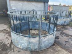 Pair galvanised cattle ring feeder