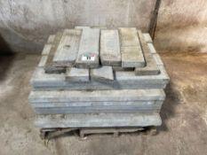 Quantity concrete edging kerbs